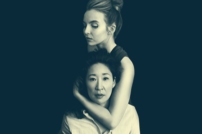 Programme Name: Killing Eve - TX: n/a - Episode: n/a (No. Generics) - Picture Shows: Villanelle (JODIE COMER), Eve (SANDRA OH) - (C) Sid Gentle Films - Photographer: Jason Bell